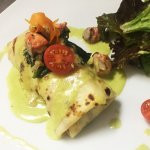 Salmon and Spinach Crepe