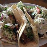 Carnitas Taco, Carne Asada Taco and Chicken Taco