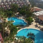 Detallle bienvenida y vistas de la piscina desde la up!!