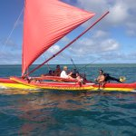 for those who love fishing we can do so right off the back of the canoe..hana pa'a..fish on