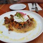 chanterelle mushroom + poached egg