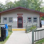 camp store next to the pool and fun center.