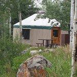 Yurts as Sylvan Lake
