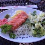 Salmon sashimi, very clean and fresh