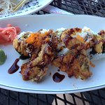 Spider roll with actual soft shell crab