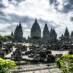 Sunset at Prambanan Temple - video at