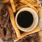 The French Dip was delicious, fries are as they should be, and the food hot and tasty