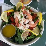 Green Salad with Shrimp topping