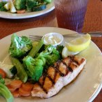 Great tasting Grilled Salmon for late lunch.