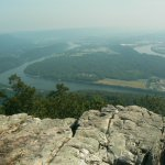 View of Tennessee River and Moccasin Bend from Ochs observation area.