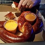 Giant Prezel with Cheese and Beer Dip