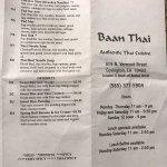 'Baan thai' Menu in Covington, Louisiana