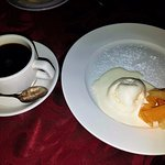 As dessert we had a coffee and vanilla ice cream with fruits