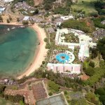 Aerial photo of resort.