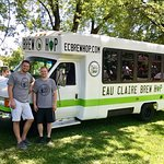 Owners Tyler and Brandon before driving in Eleva Broiler Fest Parade 2017