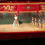 Dancing puppets in/on water stage. Awesome fun and a little bit mesmorising!