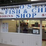 Robins shop, fish & chips, July 2017.