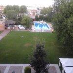 Vista a la piscina desde habitación