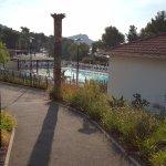 La piscine vue d'en haut