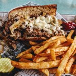 Philly Cheese Steak sandwich - Food network featured menu item