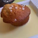 muffin au caramel maison et sa crème anglaise