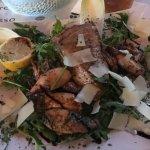 Special - tuna fish and baby calamari with arugula