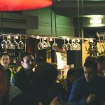 Late Night lively bar scene.