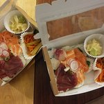 Takeaway chirashi sushi. Just call & pick up :)
