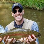 My son, Jason, and his beautiful rainbow trout