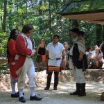 Colonists threatening Cherokee