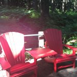 red chairs