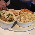 Lobster tail, crab fried rice and Mac n cheese