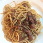 You must try or share the Baby Octopus Pasta when dining at del Marinaio