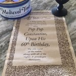Pop Pop's Birthday Scroll Announcement