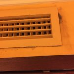 Mould and staining on AC vents