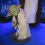 Yoda from the Star Wars exhibit