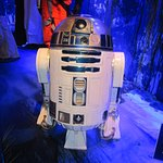 R2D2 from the Star Wars exhibit
