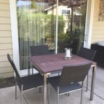 Patio dining area