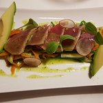 Seared tuna. A must try.