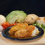 Stuffed Cabbage with Hand Mashed Potatoes