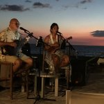 Tani and Duane, local entertainers at the Beach Bar