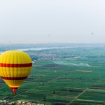 9 balloons in this photo. Drifting over the Nile delta.