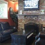 bar fireplace seating