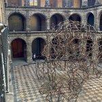 Antony Gormley piece in the second courtyard