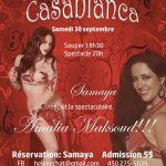 Dés le 30 septembre 2017 - Souper Spectacle au resto Casablanca de Saint-Sauveur, Québec
