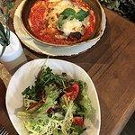Lasagna and side salad