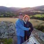 Taken at the top of where we hiked looking down towards the B & B. Just at sunset one evening.