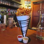 Duck fat fries with two dipping sauces