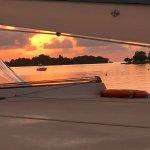 Sunset from the Catamaran cruise
