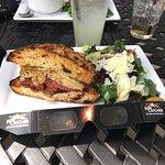 huge 1/2 pastrami reuben and salad